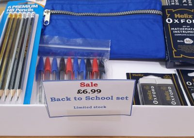 Liam stationery back to school set.